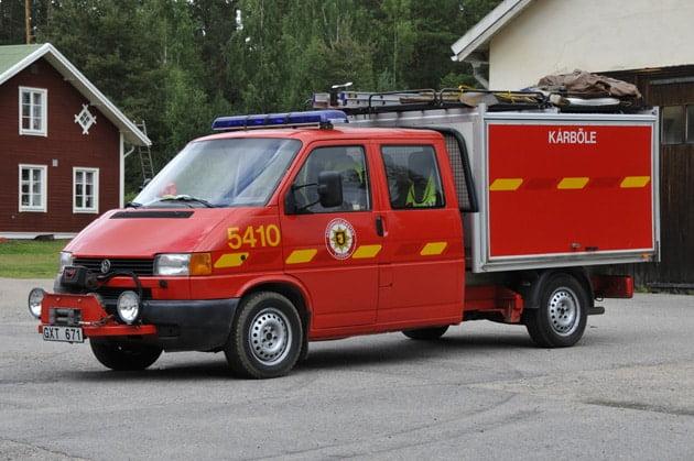2 26-5410 Lätt släckenhet VW Transporter Syncro -1998 Vatten: 360 L Skum: 12 L Övrigt: Fire Express högtrycksaggregat, hydraulverktyg