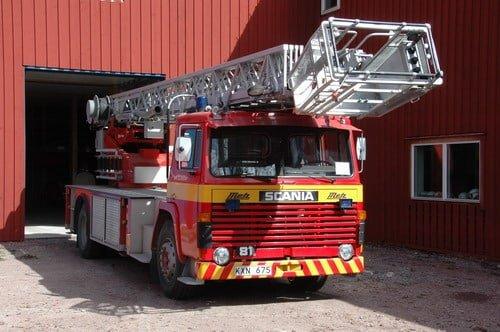 45 223 Stegbil, 30 meter Scania LB 81 S -1981 Påbyggare: Metz