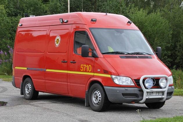 2 26-5710 Lätt släckenhet Mercedes Sprinter 313 CDI – 2006 Vatten: 880 L Skum: 20 L Övrigt: Hydraulverktyg