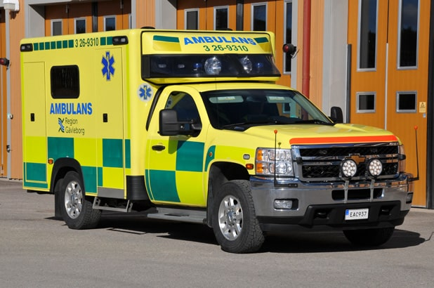 3 26-9310 Chevrolet CK 30903 -2014 Påbyggare: Ambulansproduktion i Sandviken AB