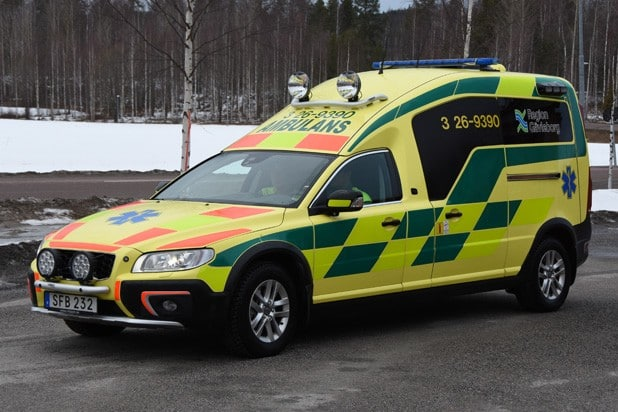 3 26-9390 Nilsson XC70 Ambulans -2015 Motor: D5 2400cc / 215 hk Påbyggare: Nilsson Special Vehicles