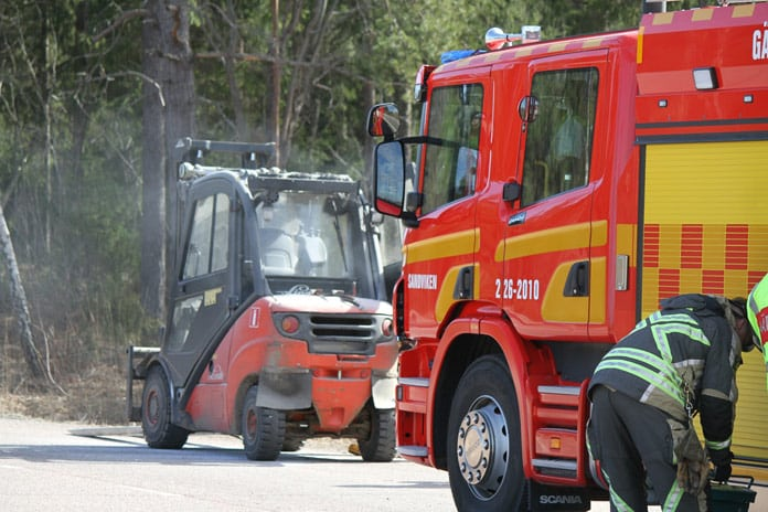 Truckbrand Brand Truck Gavle Xnytt