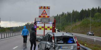 Trafikolycka E4 Iggesund Xnytt