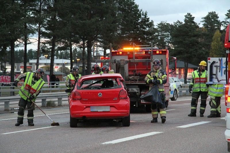 Trafikolycka E16 Valbo Xnytt